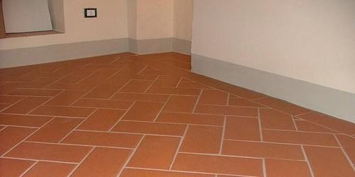 Cotto fatto a mano pavimento in cotto classico - Parquet sopra piastrelle ...