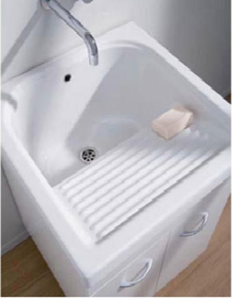 Lavatoio In Ceramica Per Lavanderia.Lavanderia Airone In Ceramica 60x50