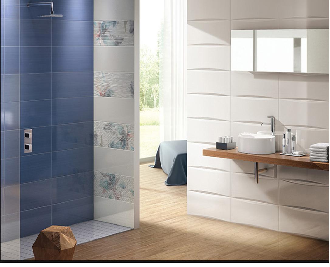 Bagno Beige E Blu : Rivestimenti da bagno bagno linear blu