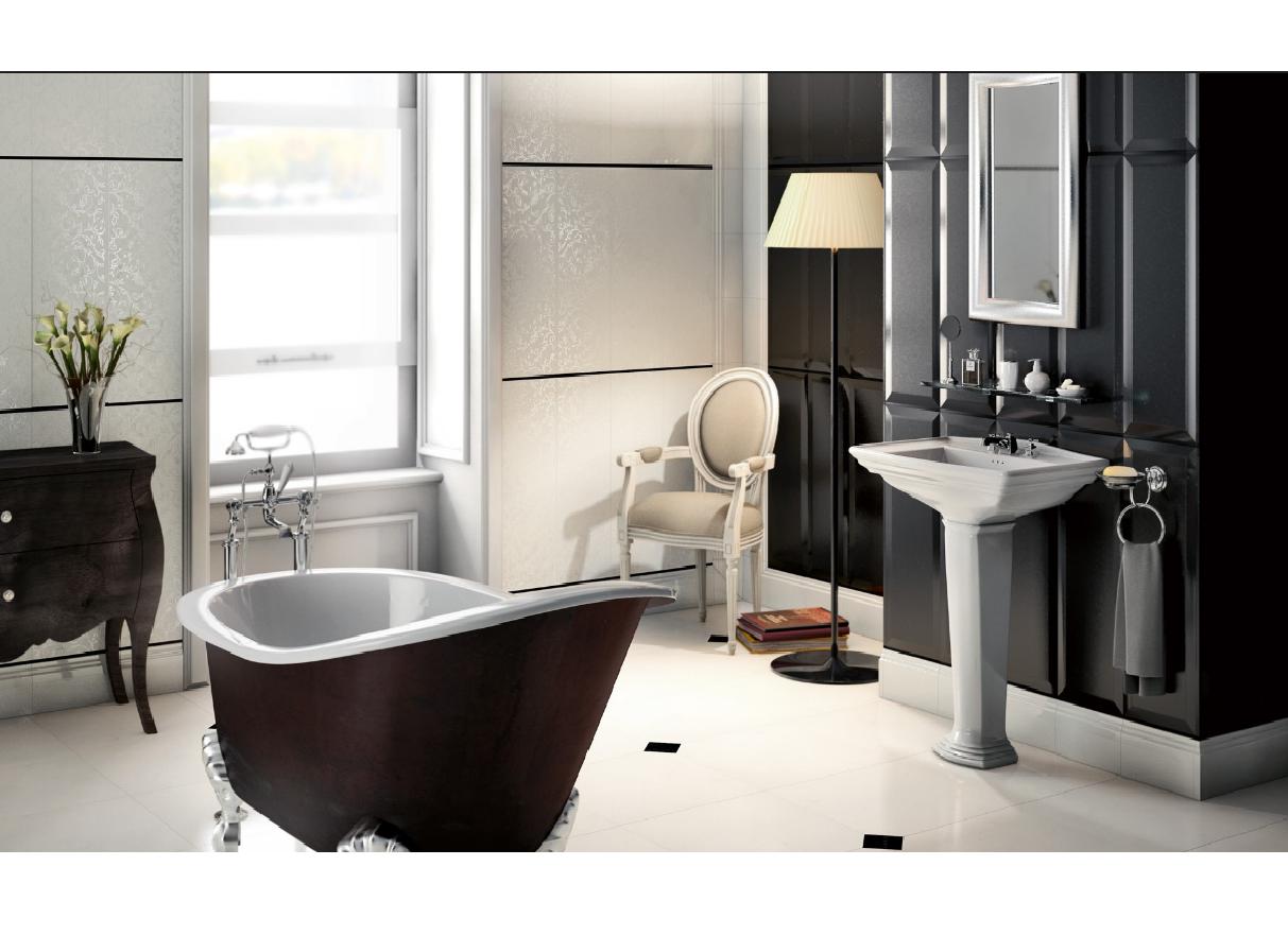 Bagno Rosa E Nero rivestimenti da bagno: diamond bianco e nero 25x75