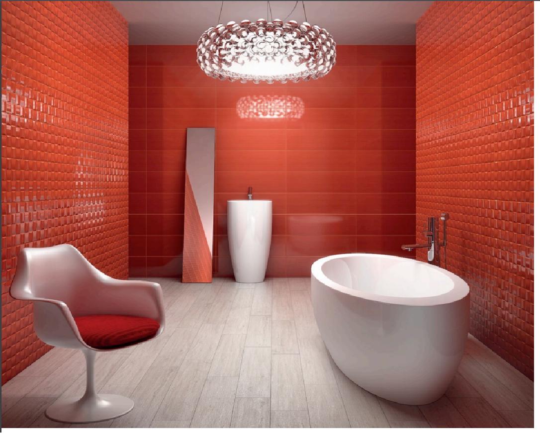 Rivestimenti da bagno: linear rosso 25x75