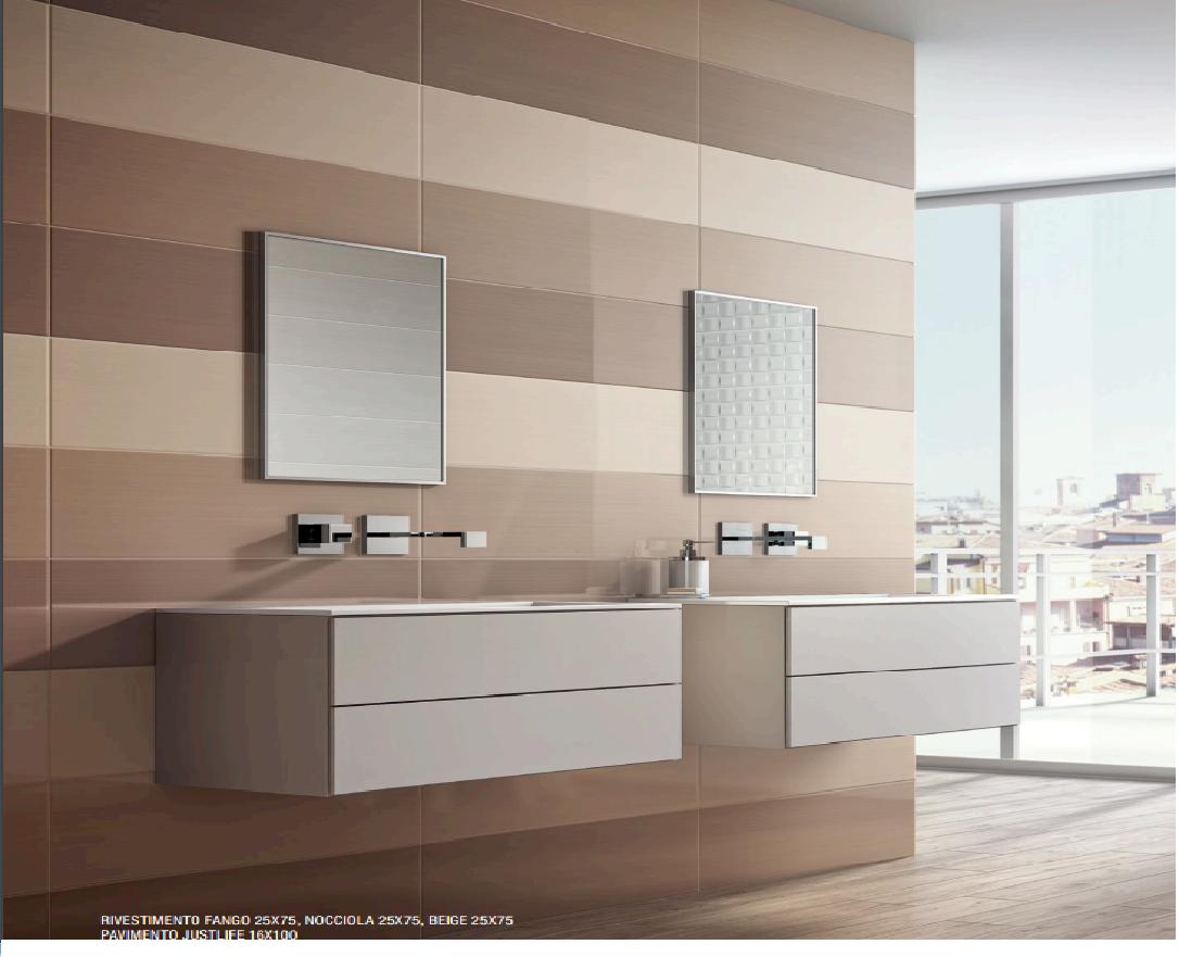 Bagno Beige E Blu : Rivestimenti da bagno bagno linear fango