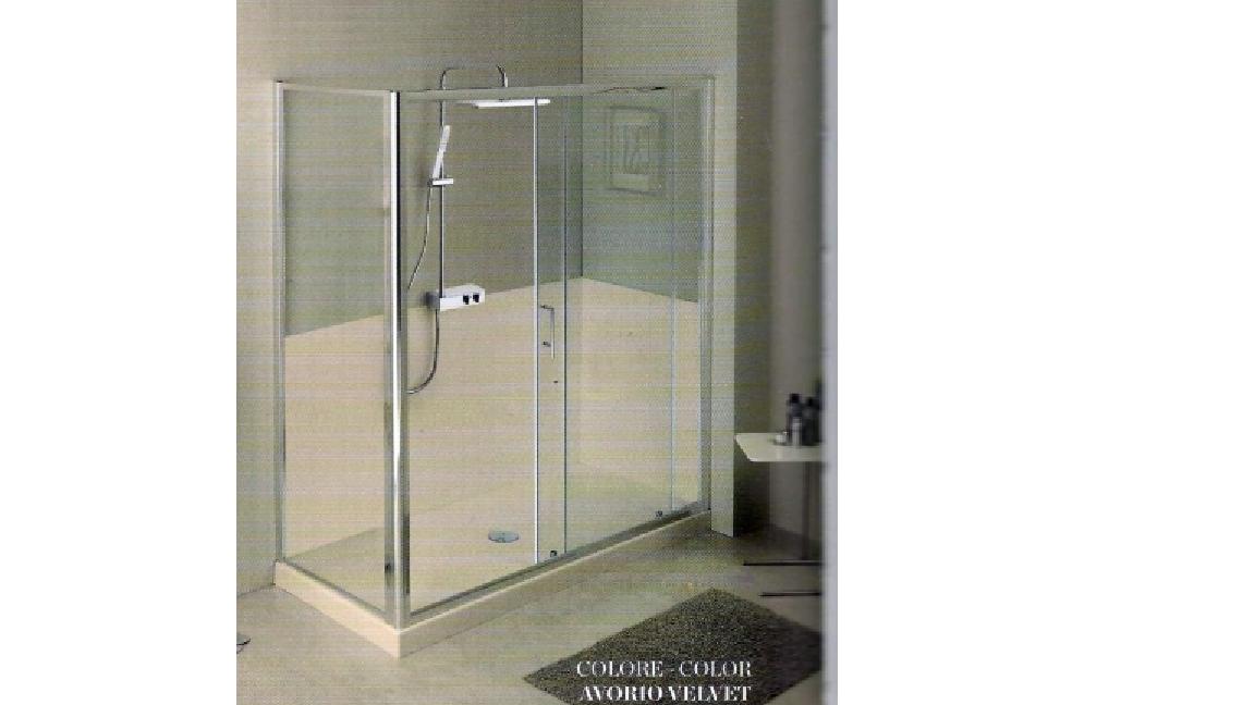 Piatti doccia : piatto doccia marmo resina avorio 80x100