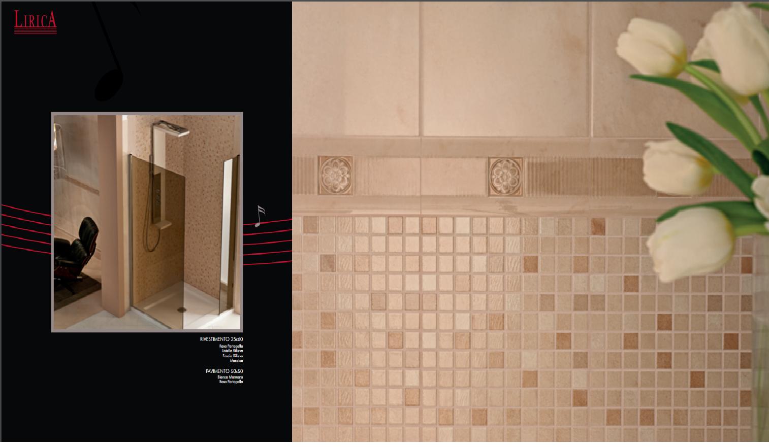 Bagno Con Mosaico Rosa : Rivestimenti da bagno: lirica rosa portogallo scuro 25x60