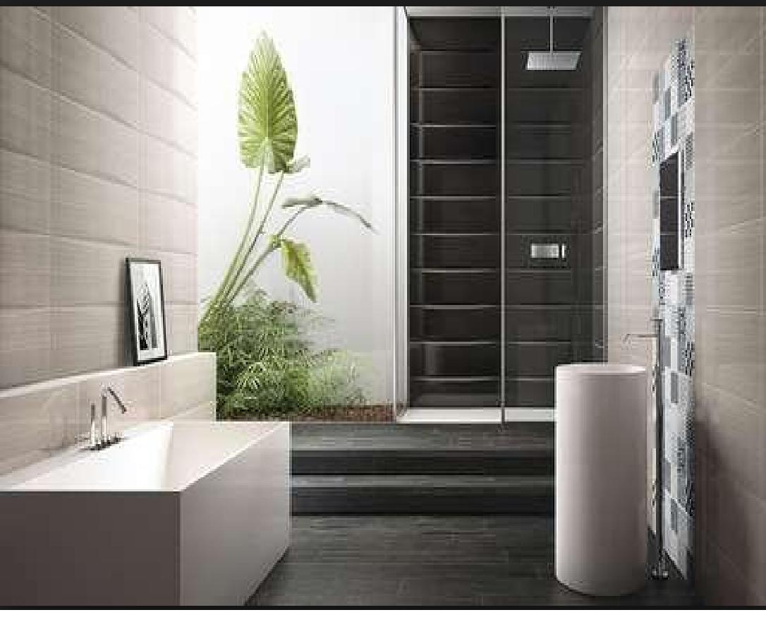 Bagno Beige E Blu : Rivestimenti da bagno linear nero