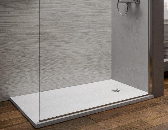 Piatti doccia : piatto doccia marmoresina bianco 70x180