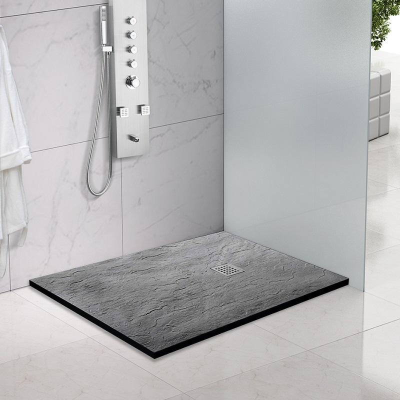 Piatti doccia piatto doccia marmo resina nero 70x140 - Piatto doccia nero ...