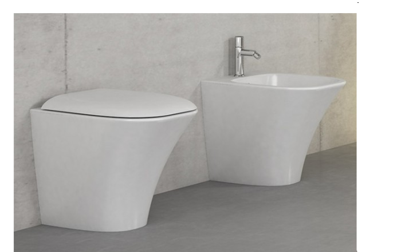 Sanitari da bagno: sanitari vaso amica filo muro