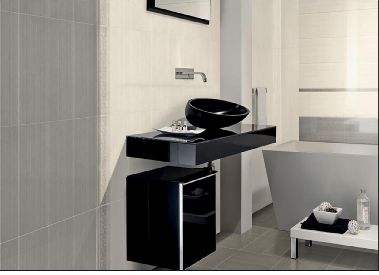 Rivestimenti da bagno: acquarelli bianco e grigio 20x50