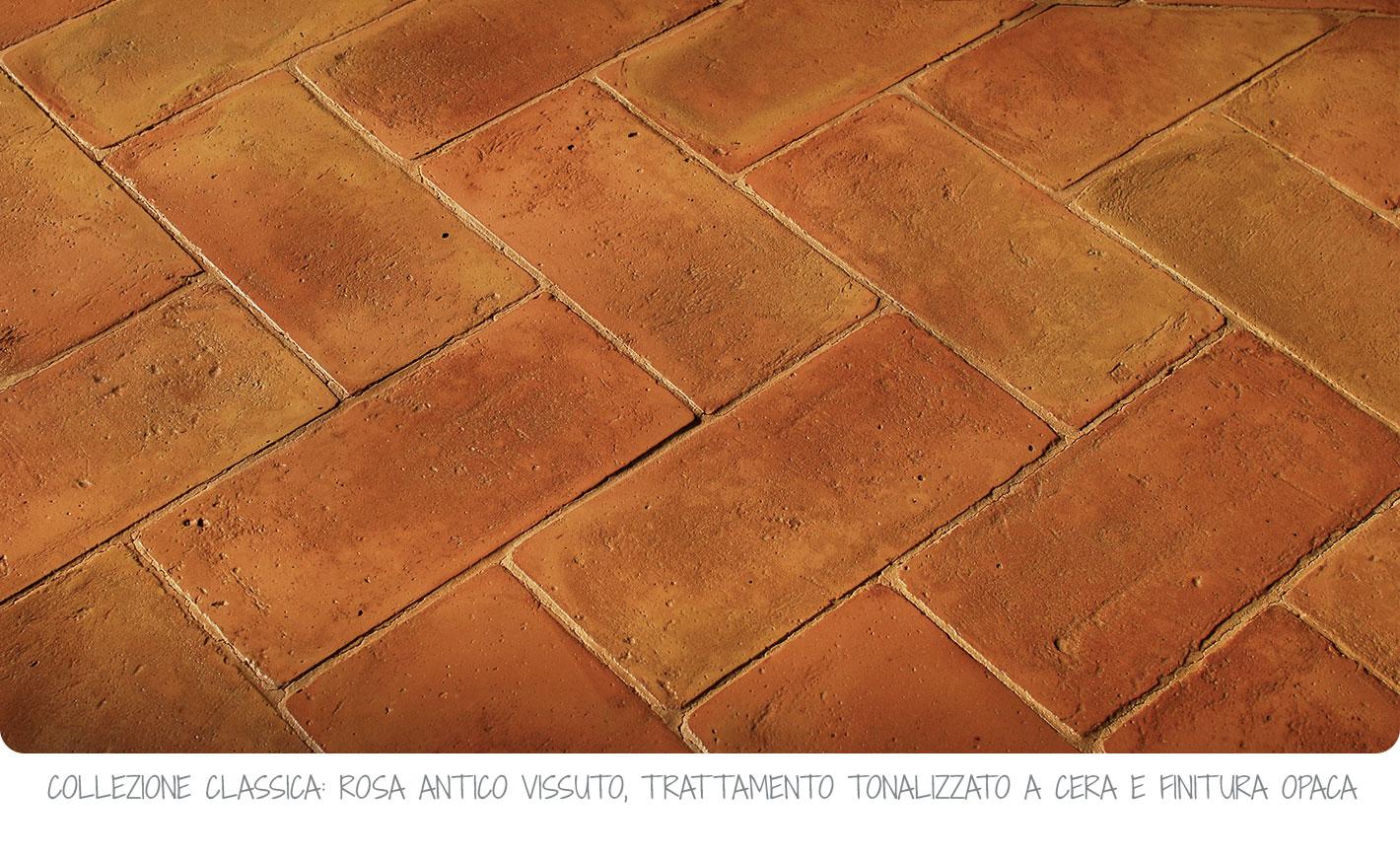 Pavimenti In Cotto Per Interni pavimento in cotto fatto a mano rettangolare 15x30